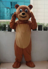 New Professional Teddy Bear Mascot Costume Unisex Adult Size Fancy Dress