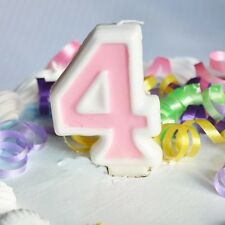 Pink 4 Number Candle White Premium Birthday Candle