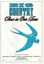 BIG COUNTRY Peace In Our Time UK magazine ADVERT / mini Poster 11x8 inches