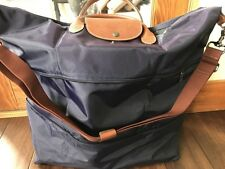 NWT LONGCHAMP Expandable Le Pliage Travel Duffel Tote BILBERRY