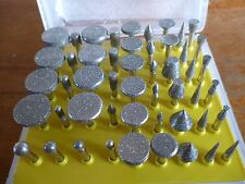50pc Diamond Burr Engraving / Rotary Set for Dremmel  New  HB265 3.17mm Shank