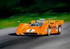 Original  Bruce Mclaren   Can Am  Acrylic Painting