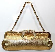 Gucci Shoulder Bag Clutch Gold Python DRAGON by Tom Ford Bamboo Chain COLLECTORS