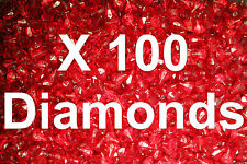 100  Lego Translucent Red Diamond Gems Jewels City Pirate Castle with stick