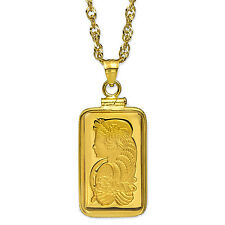5 gram Gold Pendant - Pamp Suisse Fortuna (w/Chain) - SKU #85555