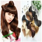 7 Color Bow Bowknot Comb Clip Hairpiece Synthetic Lady Gaga Extensions Holder