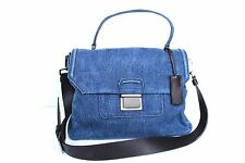 New MIU MIU Borsa Denim Blue Satchel Bag