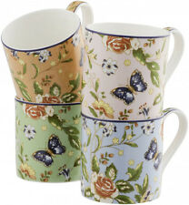 AYNSLEY COTTAGE GARDEN 4 COLOUR WINDSOR MUGS - NEW/BOXED