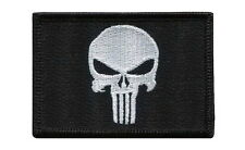 Iron on patch Black Punisher Flag Morale Military Tactical Operator Army Airsoft