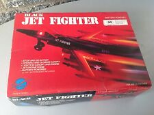 Mesem Vintage 80'S Battery Operated Black  Jet Fighter Made In Taiwan#Nrfb