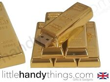 Luxury Gold Bar 8GB USB Flash Drive Portable Pen Drive Memory Storage Gift