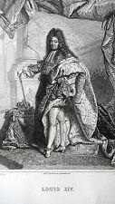 GRAVURE ANCIENNE 19e - LOUIS XIV