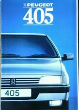 Peugeot 405 Sales Brochure 1988  inc Mi16
