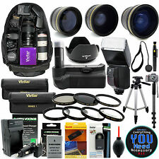 Nikon D5100 D5200 D5300 DSLR Camera Everything You Need Accessory Kit Pro