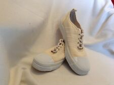 KEDS CANVAS RUBBER TOES LACE UP ZIG-ZAG STITCH.YELLOW Women's Size 10M SNEAKERS