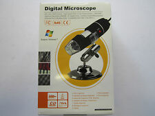USB 2.0 & 1.1 Digital Microscope with 800x Magnification/Light/Software/Stand