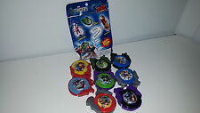 MARVEL AVENGERS GRAB ZAGS SET OF 8 DISC SHOOTERS! LOKI CAPTAIN AMERICA HULK THOR
