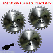 "3X 4-1/2"" inch Carbide Circular Saw Blade for ROCKWELL Compact RK3441K WORX TCT"