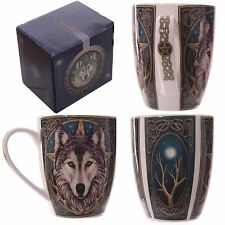 Lisa Parker 'The Wild One' Wolves Guardian Wolf Mug Gift Box Fine Bone China Cup