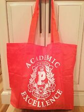 Victoria's Secret Top of the Class  Orange Shopping Book Beach Gym Bag Large !