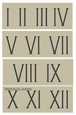 "Roman Numeral STENCIL 3"" Skinny Number Clock Shabby Cottage Vintage Address Home"
