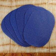 Bath & Decor Oval Gripper Table/Fridge Mats--Set Of 6 Pcs-( Royal  Blue )