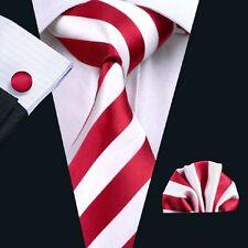 C-242 New Style Men's 100% Silk Neckties Tie+Hanky+Cufflinks Sets Free Shipping