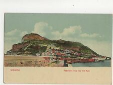 Giubraltar Panorama From Old Mole Vintage Postcard Cumbo 199b