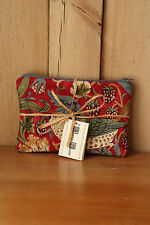 William Morris Quilted Bag Purse Cosmetic Pouch Strawberry Thief Fabric Red