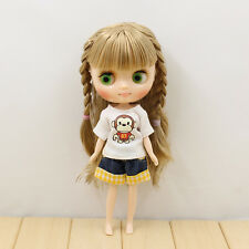 "8"" Neo Middie Blythe Doll Golden Hair Nude Doll from Factory JSW92011+Gift"