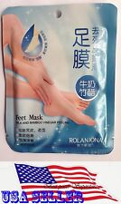 1 Pair ROLANJONA Exfoliating Peel Foot Mask Baby Feet Remove Callus USA SELLER
