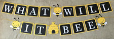 "Bee ""What will it bee"" banner. Great for baby showers"