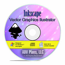 Vector Graphics Illustrator Pro, Inkscape, Drawing and Image Rendering CD F20