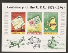 Barbuda SC # 169 A Centenary Of the UPU. Imperforated Souvenir sheet  .MNH