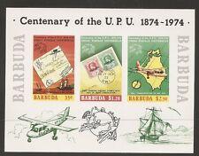 Barbuda SC # 169 A Centenary Of the UPU. Imperforated Souvenir sheet  .MNH