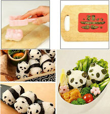 Kitchen Gadgets Panda Shape DIY Sushi Mould Bento Rice Ball Onigiri Mold New avi