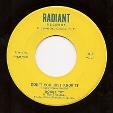 BOBBY D & TRINIDADS Don't You Just Know It  Upstate NY Garage 45 on Radiant Hear
