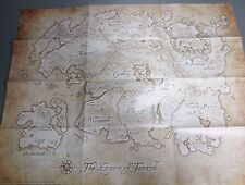 "Elder Scrolls Anthology Map - The Empire of Tamriel (ARENA) (21"" x 16"") - NEW"