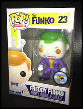 POP JOKER FREDDY DC Batman FUNKO FUNDAYS SDCC 2013 VINYL FIGURE COMIC CON 1/200