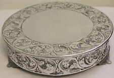 Grand Wedding Silver Round Cake Stand Plateau 14 Inch