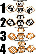 1998-2001 KTM EXC Number Plates Side Panels Graphics Decal