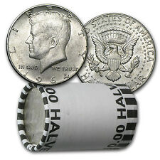 90% Silver 1964 Kennedy Half Dollars - $10 Face Value Roll - Average Circulated
