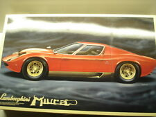 Fujimi Vintage 1/16 Scale Lamborghini Miura Model Kit - Super Rare - New