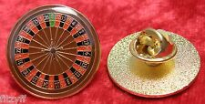 Roulette Wheel Lapel Hat Cap Tie Pin Badge Gambler Brooch