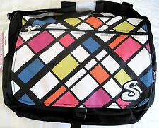 Skechers Plaid LapTop, Tablet Carrying Case, School, Messenger Bag NEW with Tags