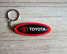 TOYOTA Keychain Key ring Black Red Rubber Car Motor Collectible Gift New