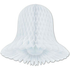 """2 Westminster honeycomb bells paper decoration white 11"""" dia"""