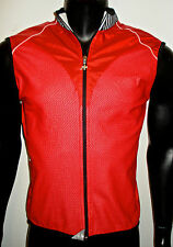 assos mens wind proof water resistant cycling ski vest red white black x large