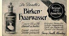 Georg Dralle Hamburg BIRKEN- HAARWASSER Historische Reklame von 1911
