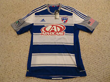 NWT Adidas 2012/14 FC Dallas Authentic Formotion Blue/White Away Jersey (Large)